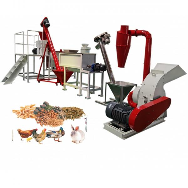 1-5tph China Manufacture Chicken Cattle Livestock Fish Poultry Pig Animal Feed Pellet Mill Feed Pellet Making Machine